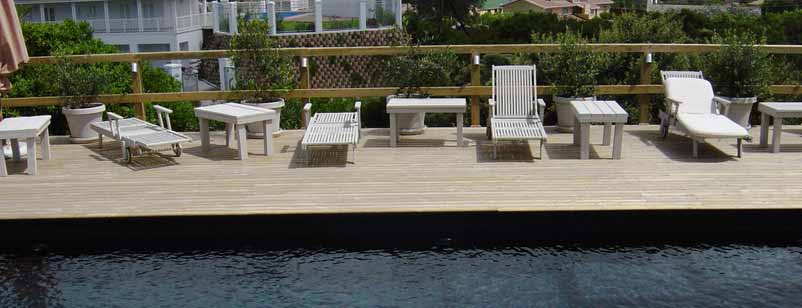 Treated Pine Swimming Pool Deck