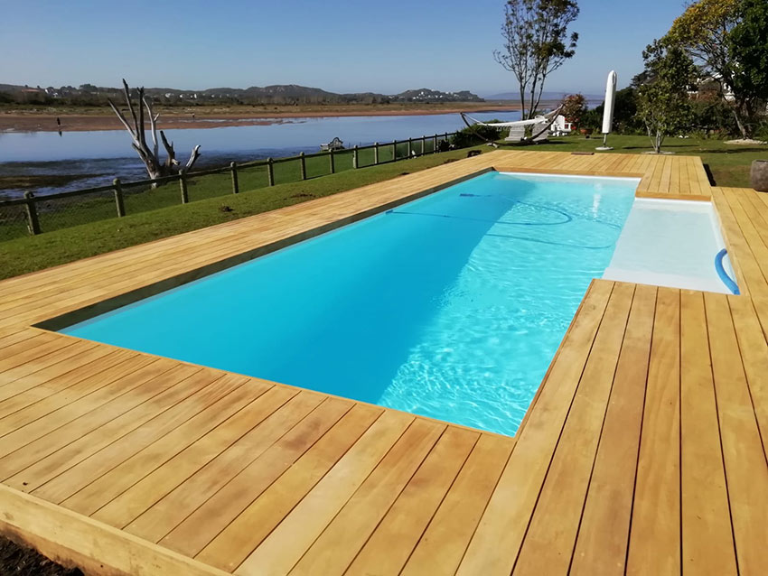 Pool with Garappa decking