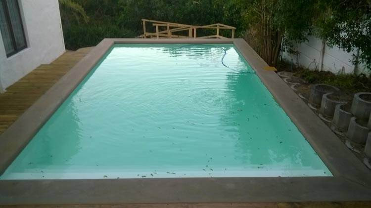 Swimming Pool Build with Hand Moulded Copings