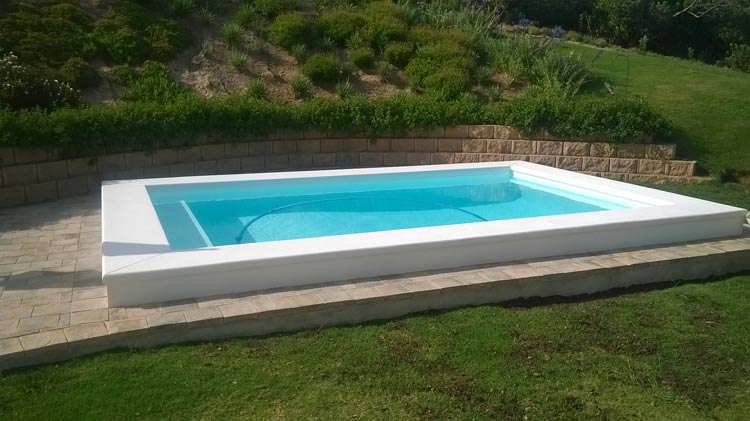Swimming Pool white bottom with hand moulded coupings